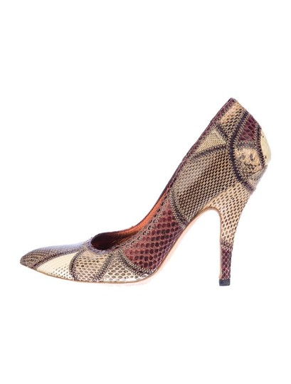 Gucci Snakeskin Python Multi Color Pumps