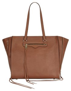 Rebecca Minkoff Regan Tassel Zip Tote in Brown