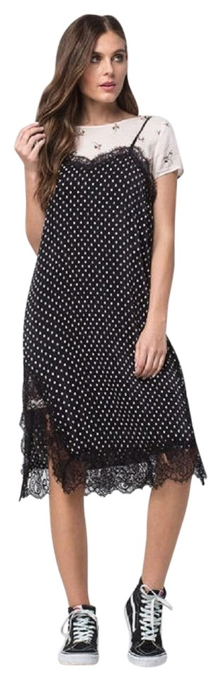 131387dc4faf Free People Black Combo  0098 Margot 2-1 Slip Pleated Short Casual Dress  Size 6 (S) 55% off retail