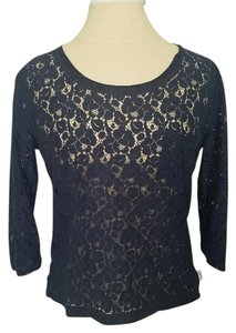 Gilly Hicks Top Navy