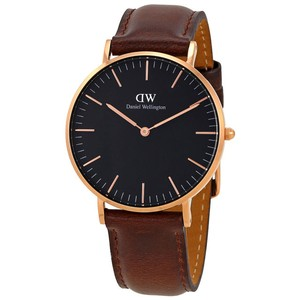 Daniel Wellington Daniel Wellington Classic Black Bristol 36mm Women's Leather Watch