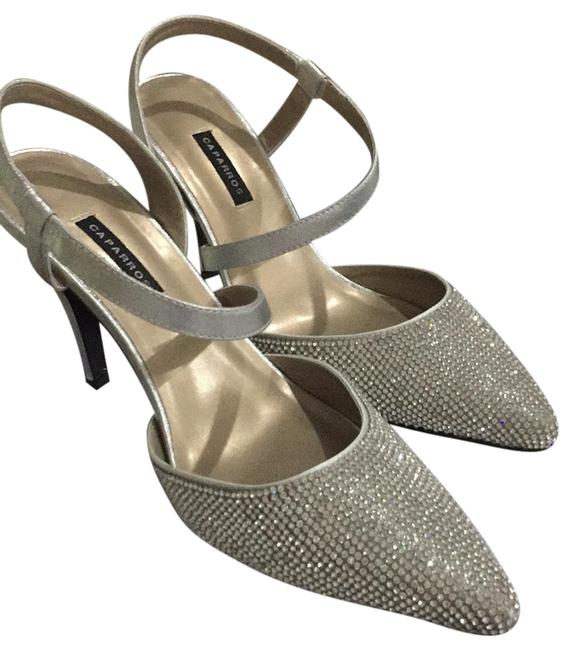 Item - Silver Metallic and Crystal's Zany Formal Shoes Size US Regular (M, B)