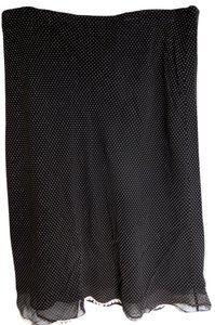 Max Studio Skirt Black Polka Dot