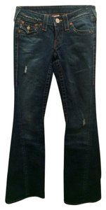 True Religion Distressed Flares Pants