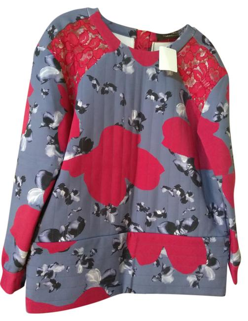 Preload https://img-static.tradesy.com/item/21589079/thakoon-blue-red-gray-white-quilted-print-neoprene-with-lace-tunic-size-6-s-0-1-650-650.jpg