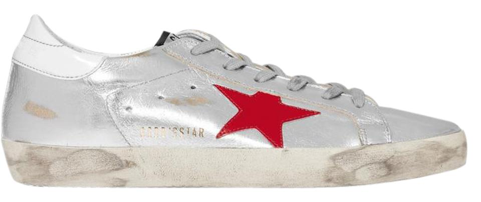 aa99677c37553 Golden Goose Deluxe Brand Distressed Sneakers Ggdb Star Silver Athletic  Image 0 ...