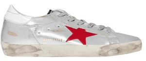 Golden Goose Deluxe Brand Distressed Sneakers Ggdb Star Silver Athletic
