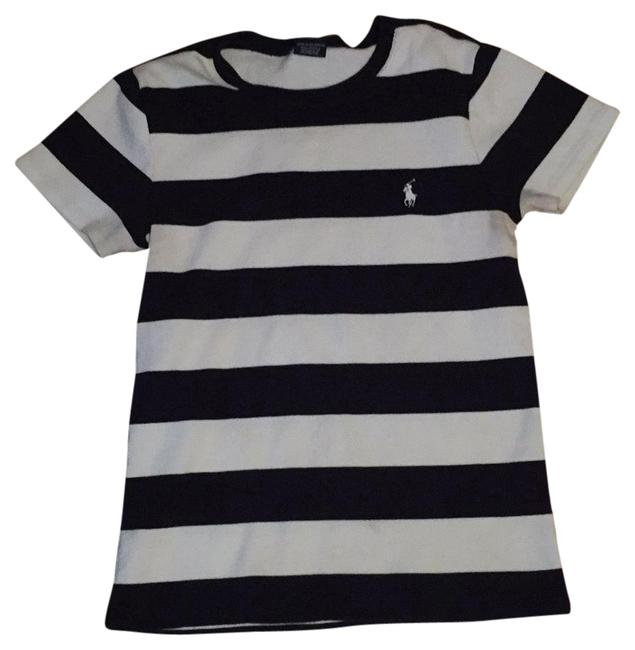 Preload https://img-static.tradesy.com/item/21589427/ralph-lauren-black-and-white-stripes-polo-tee-shirt-size-12-l-0-1-650-650.jpg