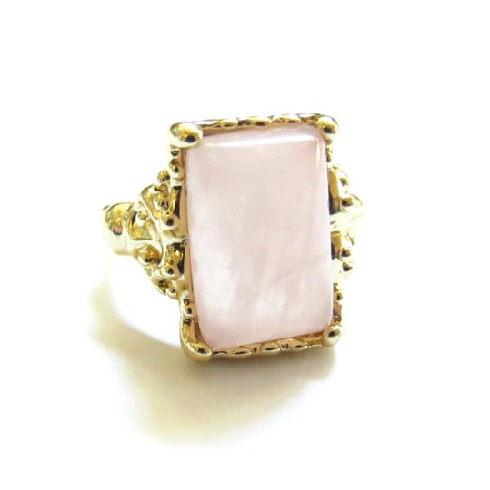 Private Label baby pink statement ring