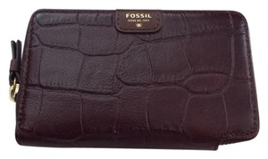 Fossil Mimi Zip Multifunctional Leather Clutch Wallet