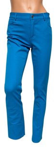 Doncaster Colored Bright Like New Petite Straight Leg Jeans-Light Wash