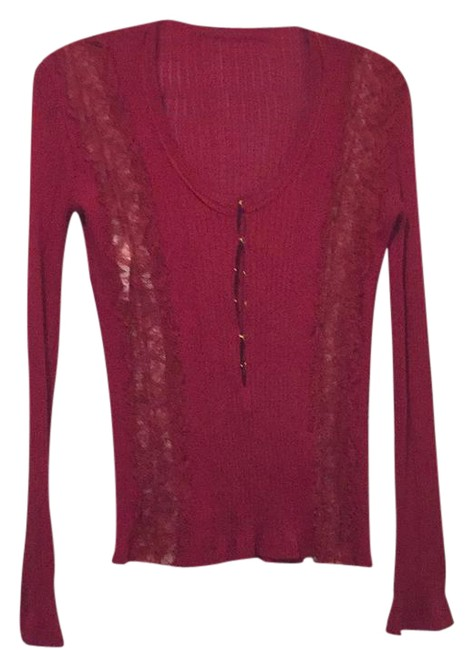 Preload https://img-static.tradesy.com/item/21589557/emilio-pucci-red-lace-ribbed-shirt-42-blouse-size-6-s-0-1-650-650.jpg