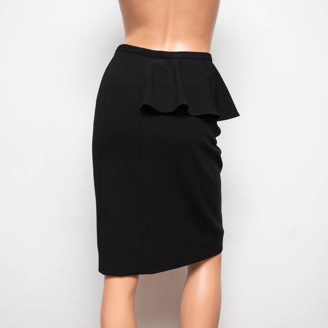 Moschino Ruffled Knee-length Lined Skirt Black