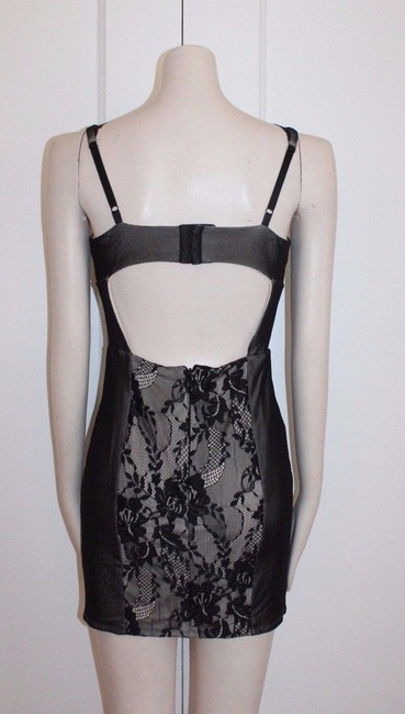 bebe Fitted Stretchy Lace Dress
