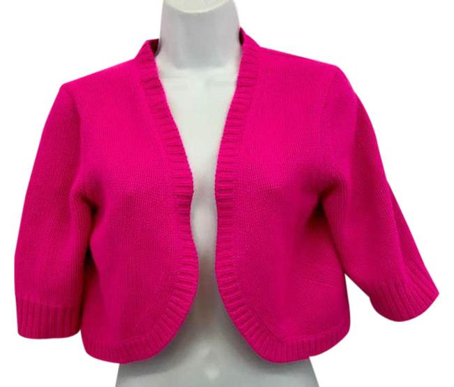 Preload https://img-static.tradesy.com/item/21589897/michael-kors-neon-pink-open-front-cashmere-cropped-knit-m-blouse-size-8-m-0-1-650-650.jpg