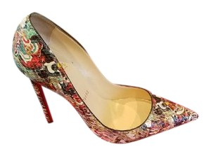 Christian Louboutin Python Leather Multi Pumps