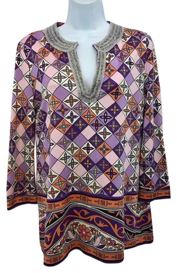 d62ff67ffc029 Tory burch beaded trim printed stretchy silk blouse tunic size jpg 623x960 Tory  burch sleeveless beaded