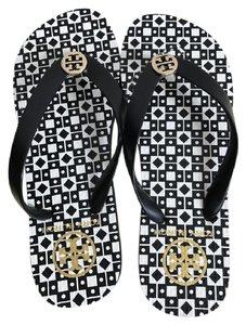 Tory Burch WHITE /BLACK Sandals