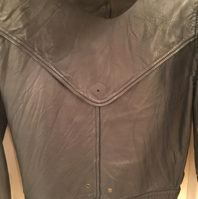 Mike & Chris Navy Leather Jacket