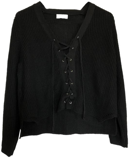 Preload https://img-static.tradesy.com/item/21590412/lace-up-knit-black-sweater-0-4-650-650.jpg