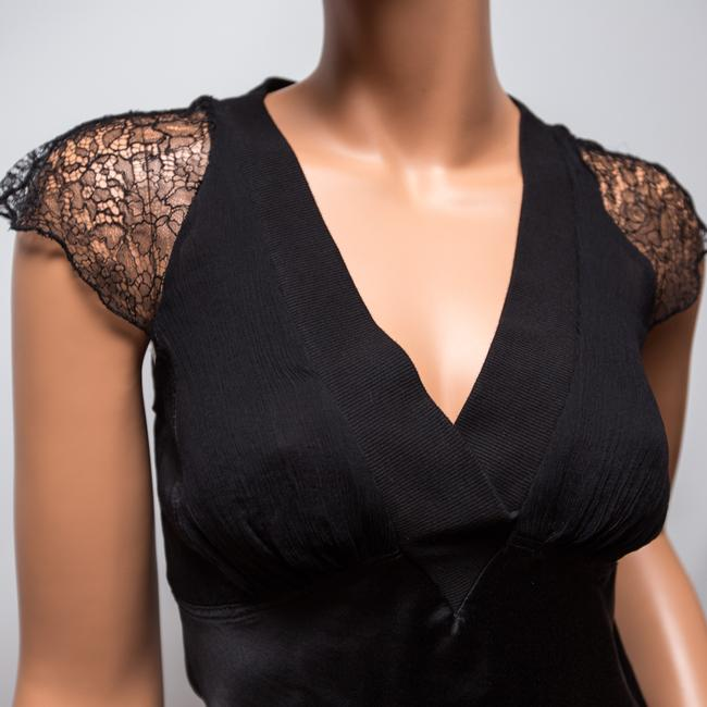 Catherine Malandrino Lace Cap Sleeves Night Out Top Black