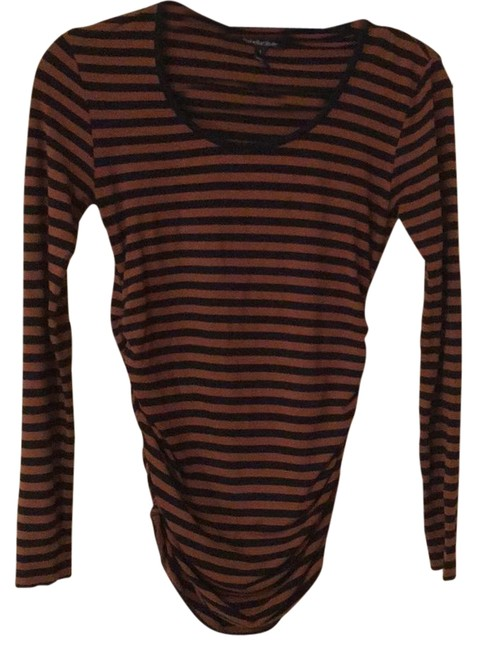 Preload https://img-static.tradesy.com/item/21590788/isabella-oliver-caramel-and-black-isla-stripe-maternity-blouse-size-0-xs-0-1-650-650.jpg