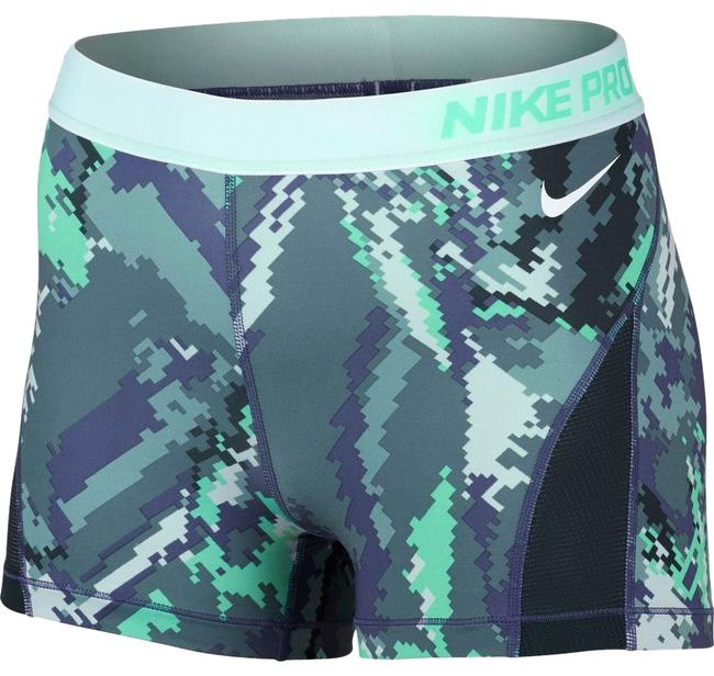"Item - Purple/Green Hyper Cool 3"" Glitch Print Activewear Bottoms Size 14 (L, 34)"