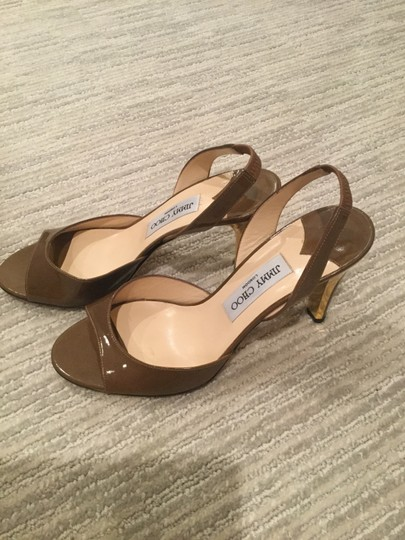 Jimmy Choo Brown with Gold Sandals