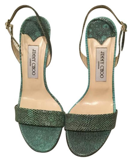 Preload https://img-static.tradesy.com/item/21591004/jimmy-choo-greenblack-skin-sandals-size-us-85-regular-m-b-0-1-540-540.jpg