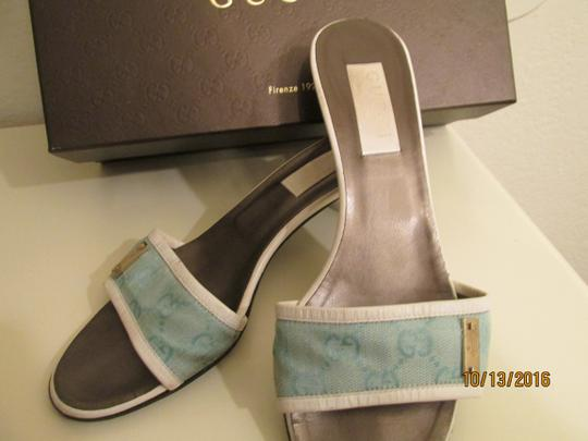 Gucci lIGHT bLUE WITH gUCCI gg logo Sandals