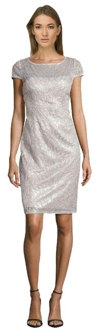 Preload https://img-static.tradesy.com/item/21591116/adrianna-papell-silver-sequined-illusion-sheath-mid-length-cocktail-dress-size-8-m-0-1-650-650.jpg