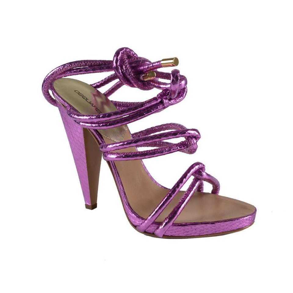 DSquared Pink Wrap Ankle Around Ankle Wrap Strap Sandals 9aeaca