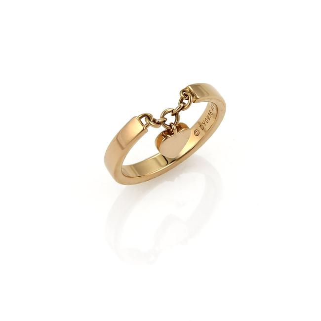 Item - Rose 20908 Mon Amour 18k Gold Heart Drop Charm Ring