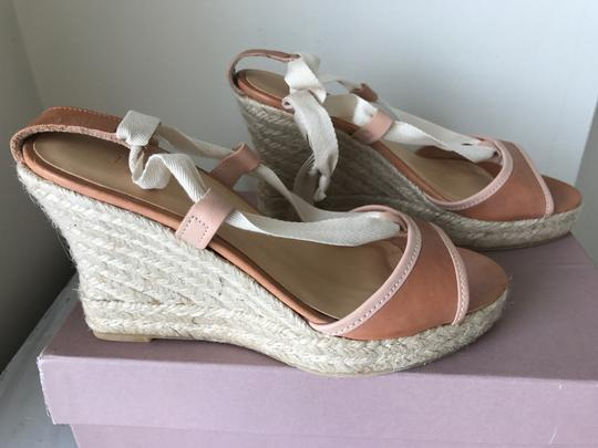 J.Crew Leather brown Wedges