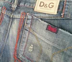 Dolce&Gabbana Levis Straight Leg Jeans-Distressed