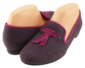 Cole Haan Slip On Loafers Tassel Purple Flats