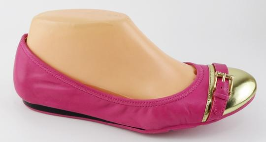 Cole Haan Leather Comfort Pink Gold Flats