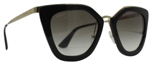 Prada New Black and Gold Cinema Sunglasses SPR 53S 52