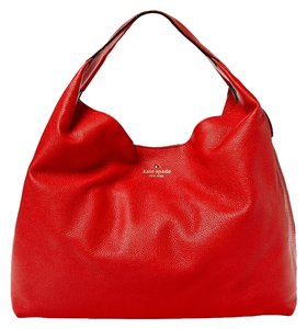 Kate Spade New York Leather Gold Hardware Hobo Bag