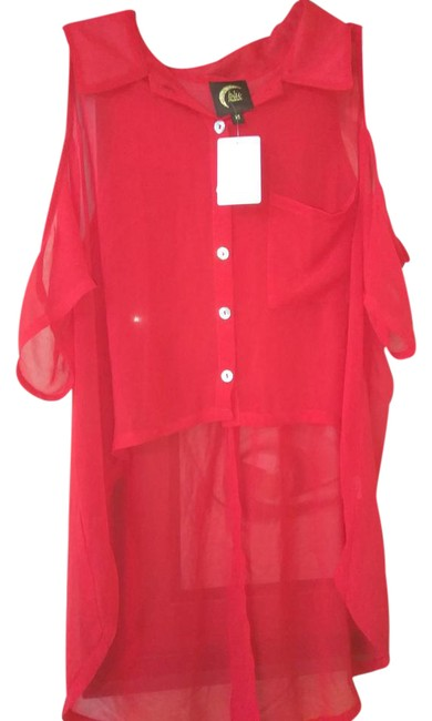 Preload https://img-static.tradesy.com/item/21591866/blu-moon-red-sheer-with-cutout-shoulder-and-long-split-back-blouse-size-2-xs-0-1-650-650.jpg