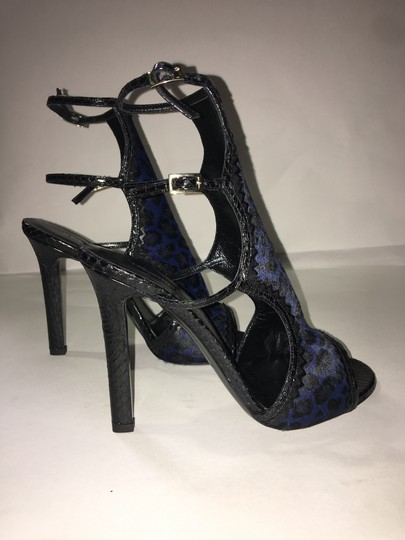 Tamara Mellon Black/Blue Sandals