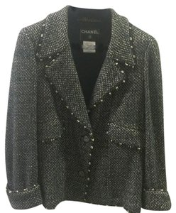 Chanel Black and Gold Blazer