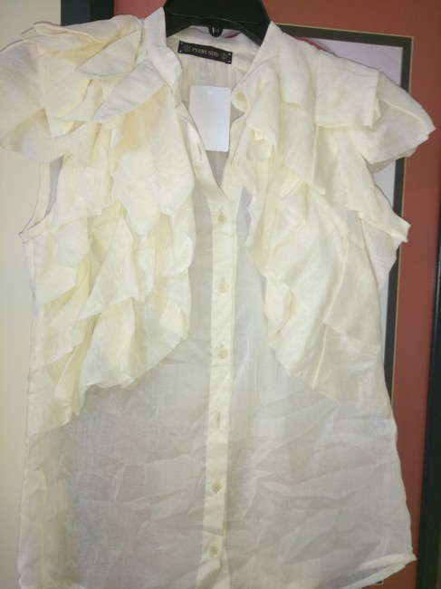 Preload https://img-static.tradesy.com/item/21591939/plein-sud-cream-made-in-italy-sheer-with-ruffles-blouse-size-8-m-0-0-650-650.jpg