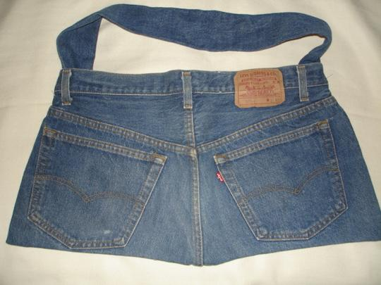 Levi's Vintage 501xx Jeans Handcrafted Handbag Hippy Hobo Style Shoulder Bag