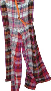 True Vintage Vintage Super Flare Pants Red Plaid