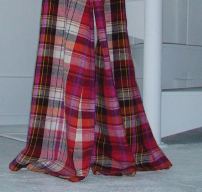 Other Elephant Bell Bell Wide 1960 Super Flare Pants Red Plaid Image 1