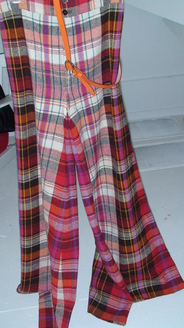 Other True Vintage Vintage Elephant Bell Elephant Bell Bell Wide Hippie 1970s 1970 Wool Hipster Groovy Rocker Stage Stage Super Flare Pants Red Plaid
