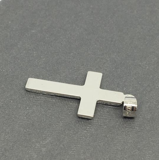Other 14K White Gold Reversible Crucifix Pendant