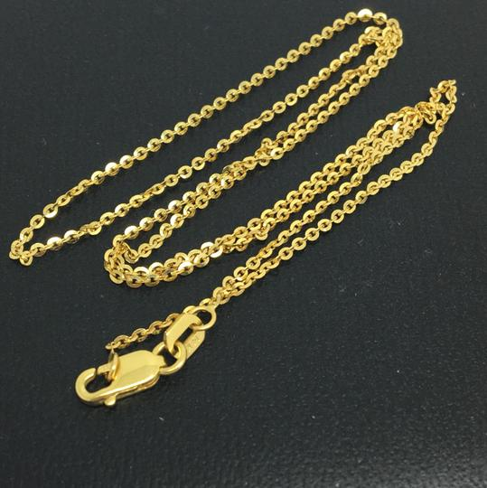 Other 14K Yellow Gold Diamond Cut Cable Chain ~1.30mm 16 Inches