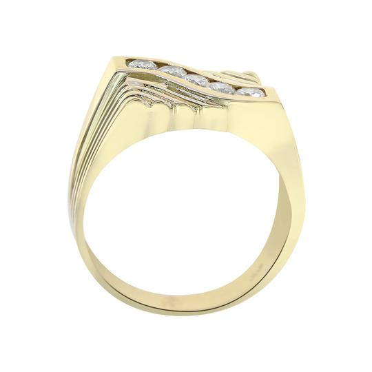 Avital & Co Jewelry 0.65 Carat Round Cut Diamonds Men's Ring 14K Yellow Gold